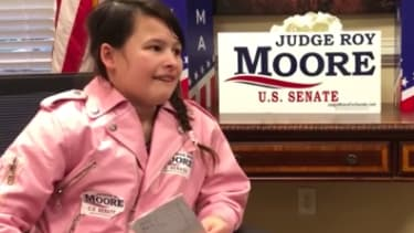 A 12-year-old interviews Senate candidate Roy Moore.