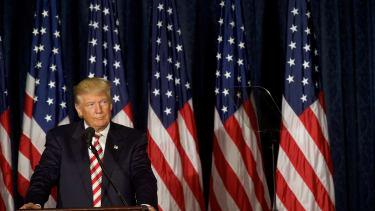 Donald Trump speaks in Philadelphia