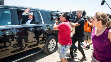 Donald Trump visits the U.S.-Mexico border
