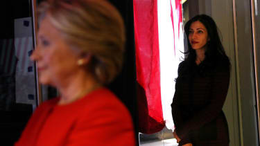 Hillary Clinton and Huma Abedin.