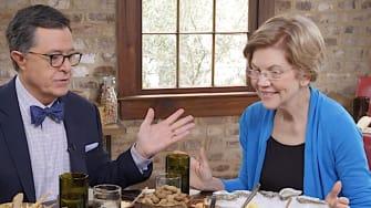 Stephen Colbert and Elizabeth Warren dine in Charleston