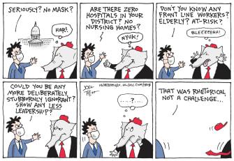 Political Cartoon U.S. COVID GOP leadership