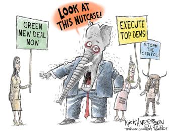 Political Cartoon U.S. AOC GOP taylor greene