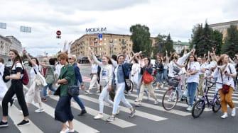 Belarus protest.