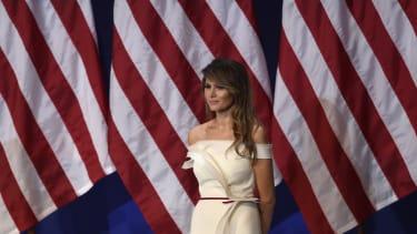 First lady Melania Trump at an inaugural ball