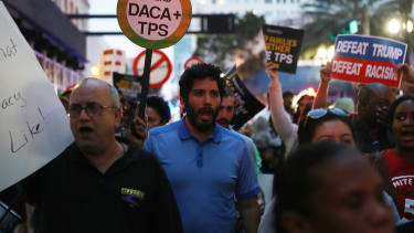 An immigration rally.