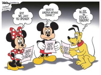 Editorial Cartoon U.S. Disney layoffs