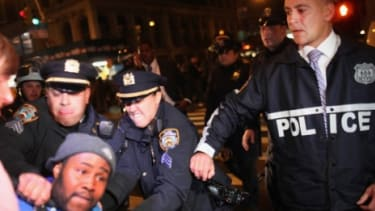 Police arrest an Occupy Wall Street protester during a New York demonstration last week.
