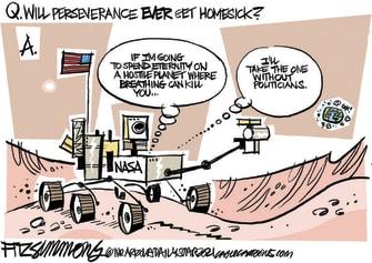 Editorial Cartoon U.S. mars perseverance