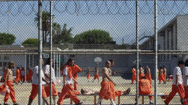 Inmates at the California Institution for Men state prison, 2011.