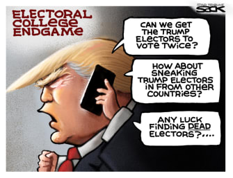 Political Cartoon U.S. Trump electoral college