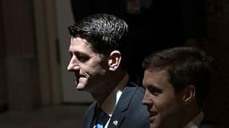 Speaker Ryan walks from the House