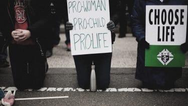 Pro-life demonstrators.