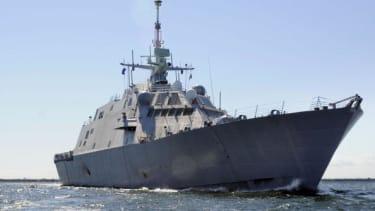 A Navy warship.