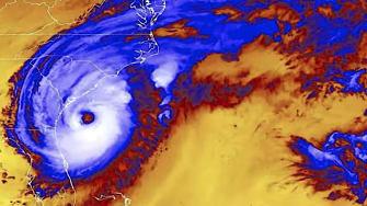 Hurricane Dorian off South Carolina
