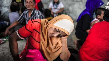 Rohingya migrants.
