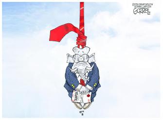 Political Cartoon U.S. gop trumpism