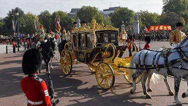 Chinese President Xi Jinping travels through London