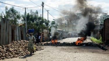 A bomb blast in Burundi.