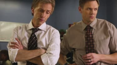 Joel McHale and Jim Rash star in a dead-on True Detective parody