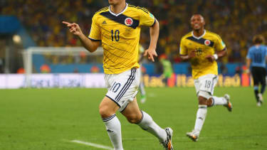 The world just lost its mind over this wonder goal by Colombia's James Rodriguez