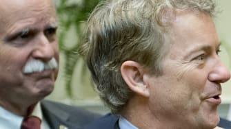 Rand Paul and Donald Trump.