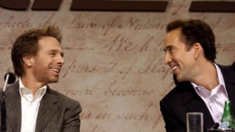 Jerry Bruckheimer and Nicholas Cage.