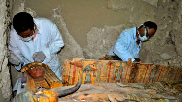 Lots of mummies were uncovered in an Egyptian tomb.