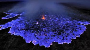 Ethiopian volcano spews stunning, deadly blue gas