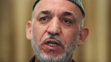 Afghan President Hamid Karzai at a press conference: Some say that if American troops couldn't defeat the Taliban, Karzai's government won't be able to, either.