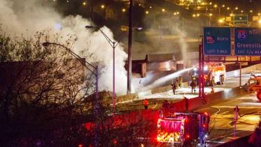 The I-85 collapse in Atlanta