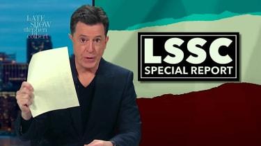 Stephen Colbert mocks Rachel Maddow