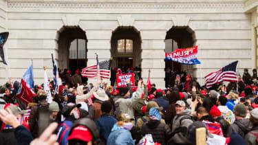 A pro-Trump mob at the Capitol last week.