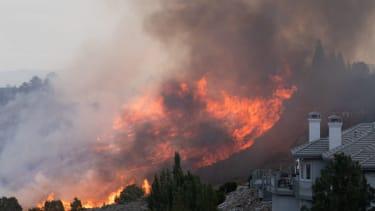 Wildfire in Reno Nevada.
