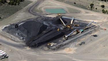 A coal strip mine in Utah