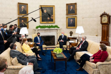 Oval Office infrastructure meeting