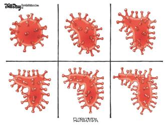 Editorial Cartoon U.S. Florida coronavirus surge