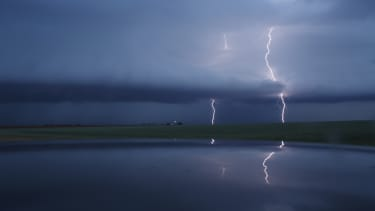A lightning strike in Lamb County, Texas.