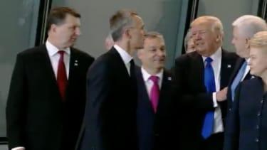 President Trump at NATO.