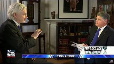 Julian Assange, Sean Hannity talk Russian hacking