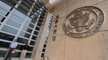 The U.S. Embassy in Beijing.