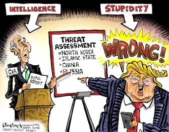 PoliticalCartoonU.S. Trump GOP Intelligence CIA