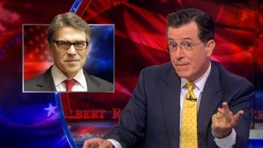 Stephen Colbert gleefully mocks Rick Perry's 'metrosexual' presidential ambitions