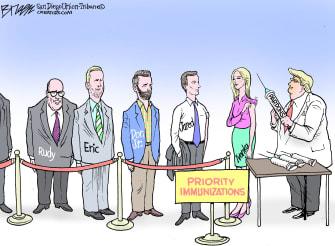 Political Cartoon U.S. Trump pardons