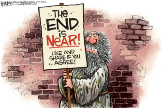 Editorial Cartoon U.S. the end is near