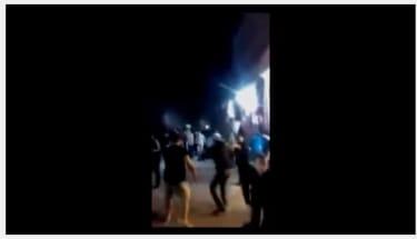 Screenshot of an onlookers video of an explosion in Paris on November 13, 2015.