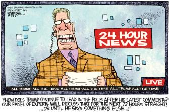 Political cartoon U.S. Trump media
