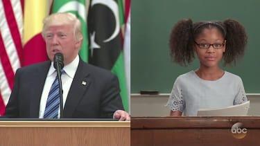 4th graders read Trump speeches