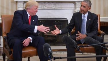 Donald Trump and Barack Obama.