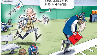 Political cartoon U.S. Joe Biden considers running 2020